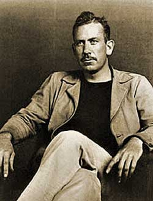 american progress in the work of john steinbeck Many of the displaced farmers sought work in the promised land of california eventually in 1936, john steinbeck conducted research on the people who had moved to california from arkansas and one of the most highly praised and vehemently criticized pieces of american literature.
